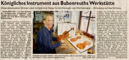 A Royal Instrument