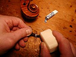 Putting Soap on Peg
